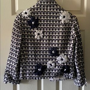 Carlisle jacket navy & white flowers size 6